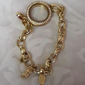 Gold Origami Owl Locket Bracelet